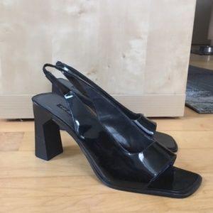 Nine West Patent Leather Peep Toe Heels